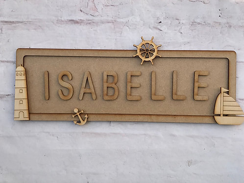 Sailor Theme Room Sign Large (up to 10 letters)