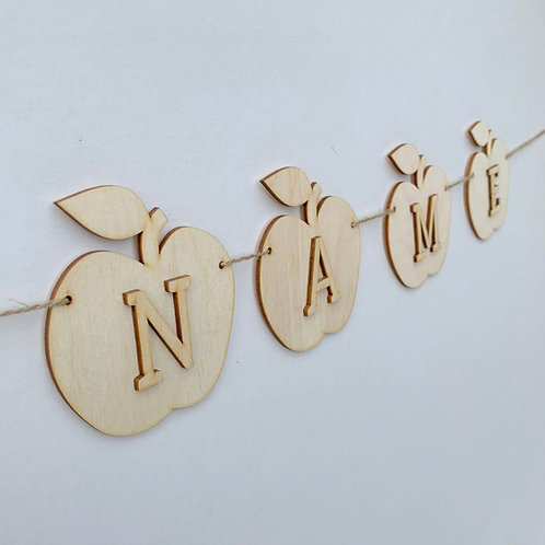 Apple Bunting with Letters
