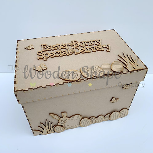 Deluxe MDF Easter Bunny Special Delivery Box
