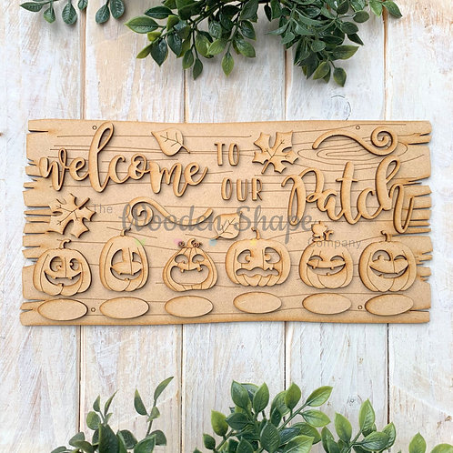 MDF Halloween Welcome to our Patch Pumpkin Family Kit