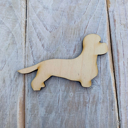 Plywood Diomantee Dandy Dog Shape 10 PACK