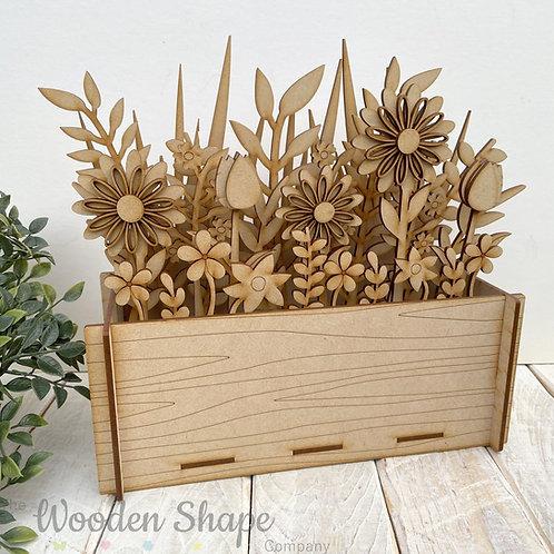 3D MDF Build Your Own Flower Pot Window Planter