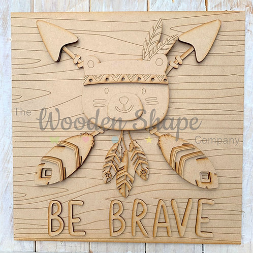 Layered Tribal Boho Arrow Sign Be Brave & Character