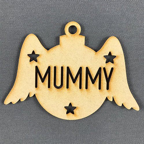 MDF Bauble Wings Mummy