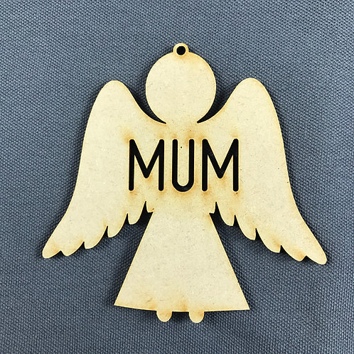MDF Bauble Angel Mum