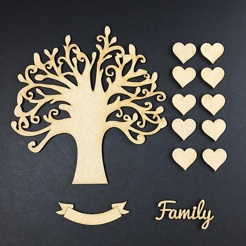 MDF Wooden Tree Code Round Kit