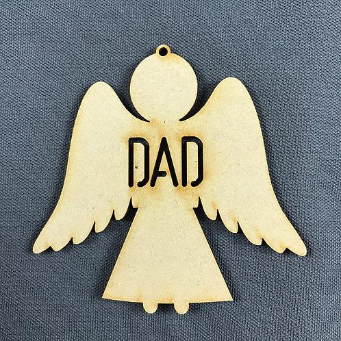MDF Bauble Angel Dad