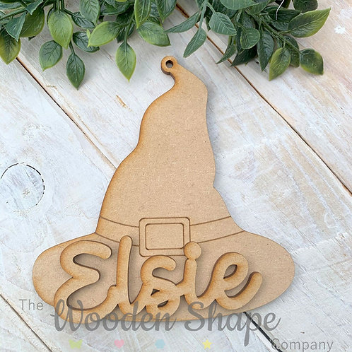 Personalised Halloween Decorations Witches Hat