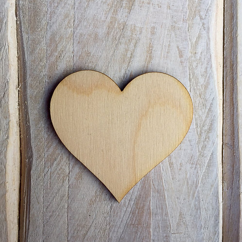 Plywood Heart Craft Shape 10 Pack