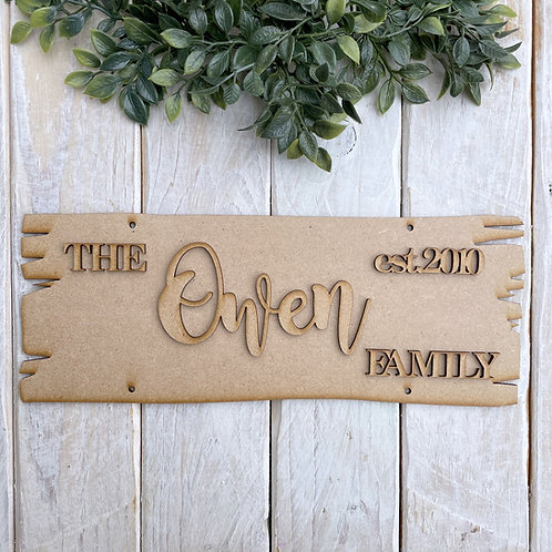 Personalised Top Plaque Direction Sign Family