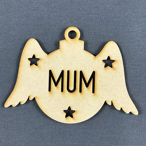 MDF Bauble Wings Mum