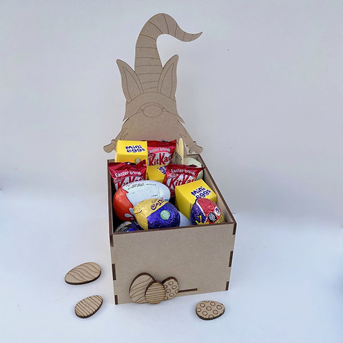 MDF Easter Fillable Treat Box Gnome Boy