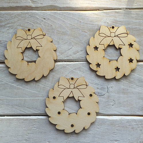 10 Pack Christmas Decorations Wreath