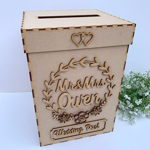 Build Your Own Wedding Post Box Personalised