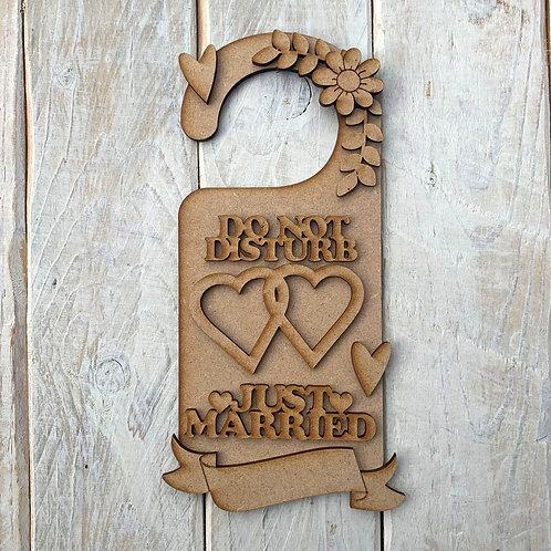 Door Hanger Layered Just Married