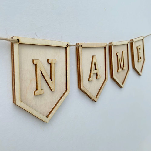 Plywood Frame Pendant P Bunting