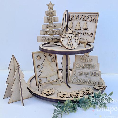 Christmas Theme Tiered Tray Kit