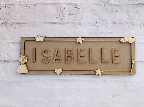 Princess Theme Room Sign Large (up to 10 letters)