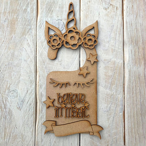 Door Hanger Layered Unicorn