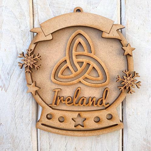 Layered Snow Globe Bauble Ireland Celtic Knot