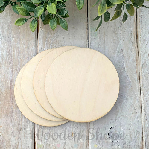 4 Pack Birch Plywood Circles