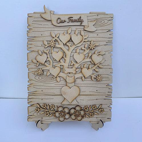 The Family Tree Log Plank Craft Kit