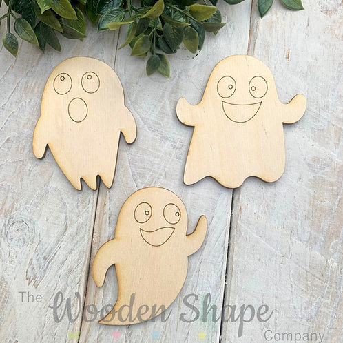 Plywood Assorted Ghost Shapes 10 Pack