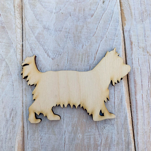 Plywood Standing Yorkie Dog Shape 10 PACK