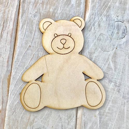 Plywood Teddy Bear 10 Pack