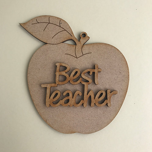 MDF Hanging Apple with Wording