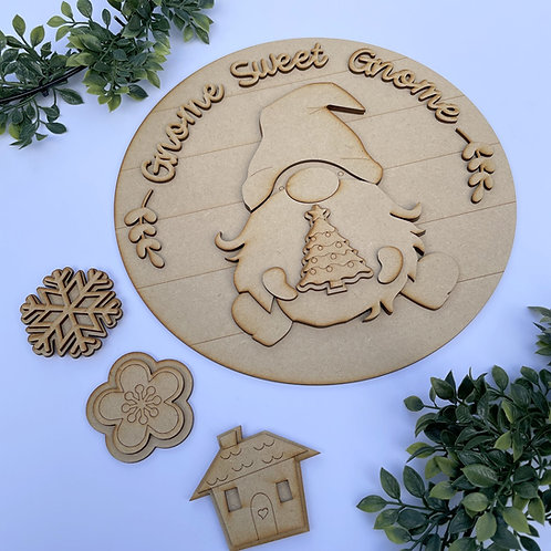 30cm Interchangeable Gnome Sweet Gnome Circle Kit