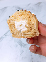 Bagel Bites stuffed with Cream Cheese