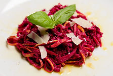 Beet and walnut pesto spaghetti squash