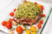 Pesto Crusted Leg of Lamb