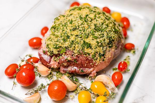 Pesto Crusted Leg of Lamb