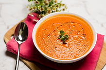 Tomato soup with maple syrup