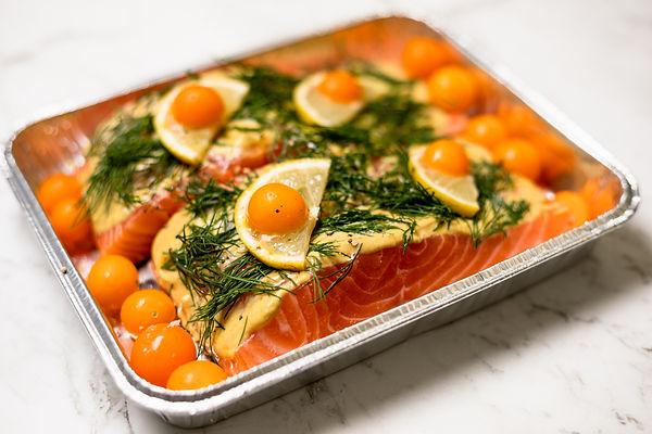 Dijon and Dill Baked Salmon