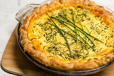 Salmon and chives quiche