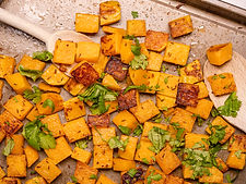 Squash with cumin seeds and coriander