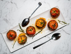 Provencal meat stuffed tomatoes