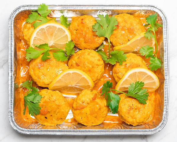 Morrocan Fish Cakes in a Saffron and Lemon Broth