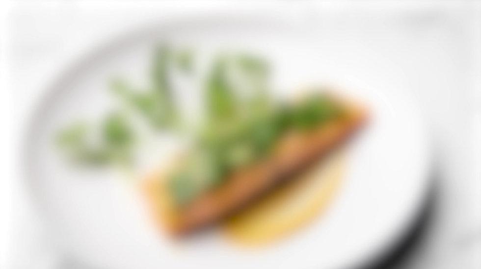 Dijon and Cilantro Baked Salmon