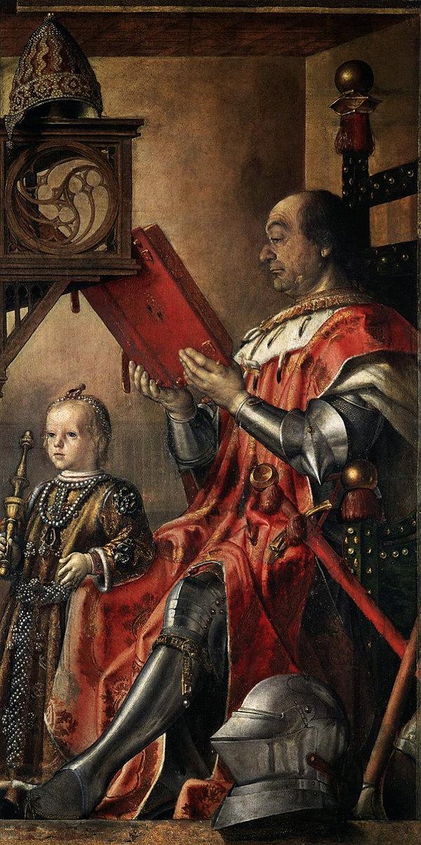 Герцог Федерико с сыном Гвидубальдо