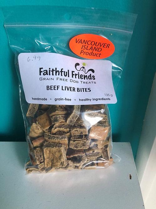 Faithful Friends Beef Liver Bites 135gm