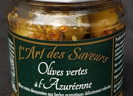 Olives vertes à l'Azuréenne 130g
