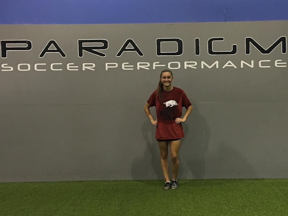 Nat after her last fitness session before she leaves for Univ. of Arkansas.