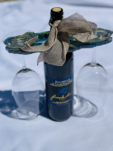 2 Glass Wine Display