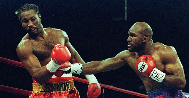 Holyfield began to claw back Lewis' lead  in the second half the fight