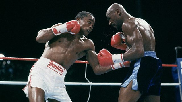 Hagler tried to press the action