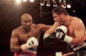 Holyfield had three bouts with John Ruiz for the WBA heavyweight championship